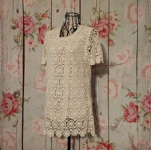 Forever 21 Crochet Lace Tunic